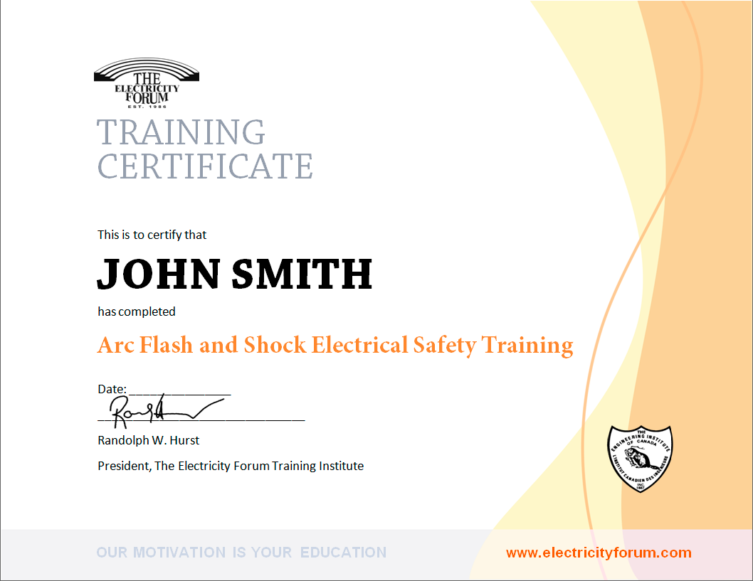 arc-flash-safety-certificate